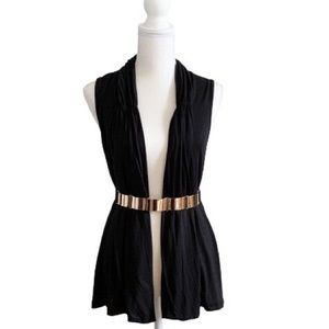 AUGUST SILK BLACK CARDIGAN | Sz PM